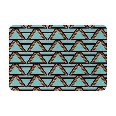 Deco Angles by Nina May Bath Mat Color: Mint