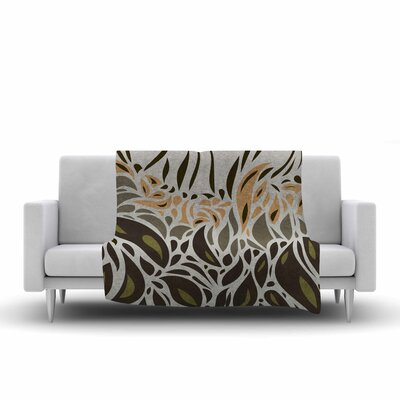 Africa - Abstract Pattern II by Viviana Gonzalez Fleece Blanket Color: Green