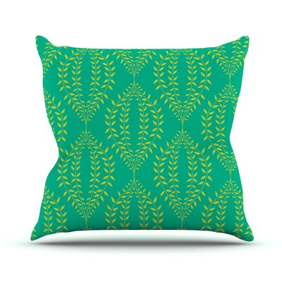 Laurel Leaf by Anneline Sophia Outdoor Throw Pillow Color: Green
