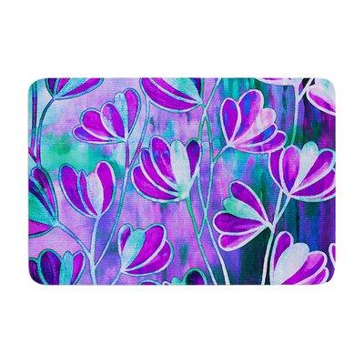 Effloresence by Ebi Emporium Bath Mat Color: Lavender/Blue, Size: 24 W x 36 L
