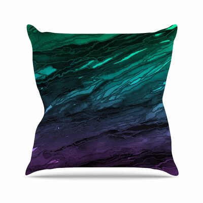 Agate Magic Throw Pillow Color: Aqua / Purple, Size: 16 H x 16 W x 6 D