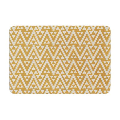 Geo Tribal by Amanda Lane Bath Mat Color: Mustard, Size: 17W x 24L