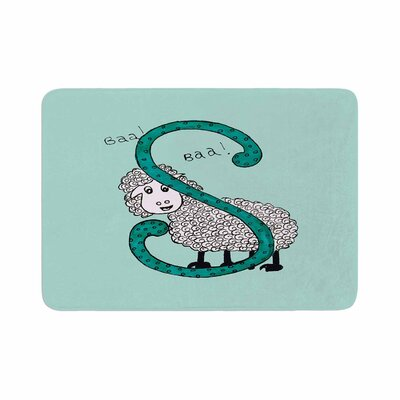 Sis for Sheep by Rosie Brown Bath Mat Color: Blue