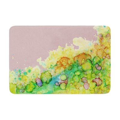 Sea Life by Rosie Brown Bath Mat Color: Green/Pink