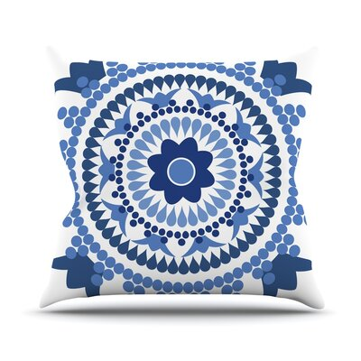 Bohemian Blues by Carolyn Greifeld Throw Pillow Size: 16 H x 16 W x 3 D