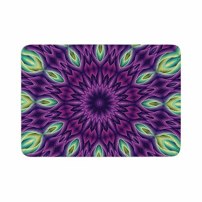 Zapped by Sylvia Cook Memory Foam Bath Mat Color: Purple