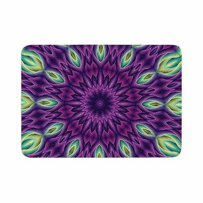Zapped by Sylvia Cook Memory Foam Bath Mat Color: Purple