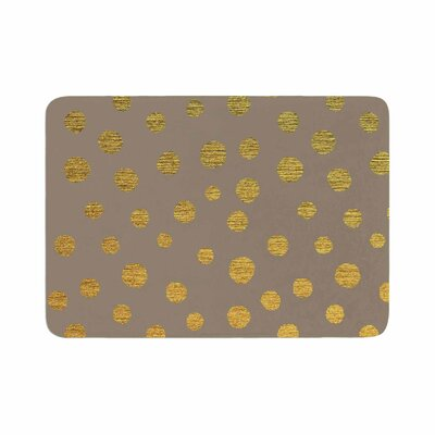 Dots by Nika Martinez Memory Foam Bath Mat Color: Earth/Golden