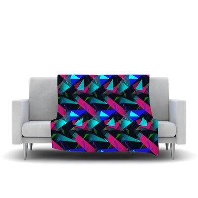 Confetti Triangles Dark by Alison Coxon Fleece Throw Blanket Size: 40 L x 30 W, Color: Dark
