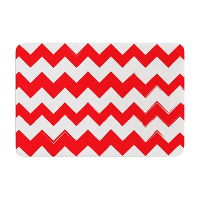 Bath Mat Color: Red, Size: 24 W x 36 L