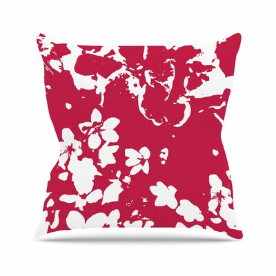 Helena Floral Throw Pillow Size: 16 H x 16 W x 6 D, Color: Magenta