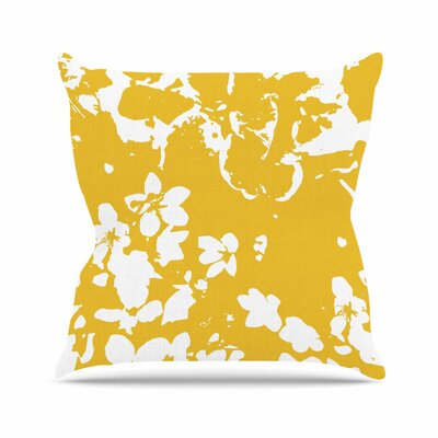 Helena Floral Throw Pillow Color: Yellow, Size: 16 H x 16 W x 6 D