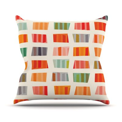Beach Towels by Daisy Beatrice Throw Pillow Size: 16 H x 16 W x 3 D