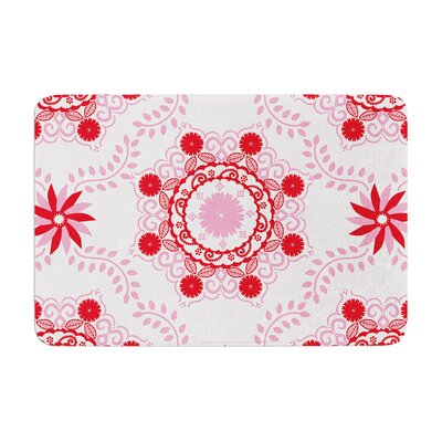 Lets Dance by Anneline Sophia Bath Mat Color: Red, Size: 17W x 24L