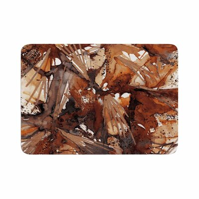 Birds of Prey by Ebi Emporium Memory Foam Bath Mat Size: 24 L x 17 W, Color: Rust Tan/Brown