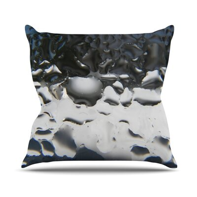 Outdoor Throw Pillow Color: Silver