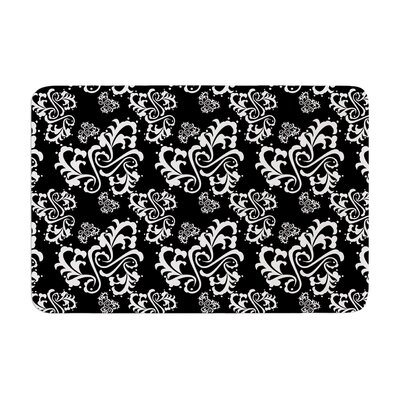 Sweetheart Damask by Mydeas Bath Mat Color: Black/White, Size: 17W x 24L