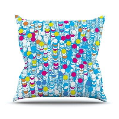Color Hiving by Frederic Levy-Hadida Outdoor Throw Pillow Color: Sky Blue