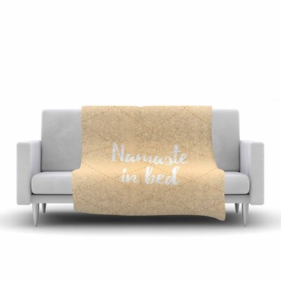 Namaste In Bed Fleece Blanket Color: Yellow
