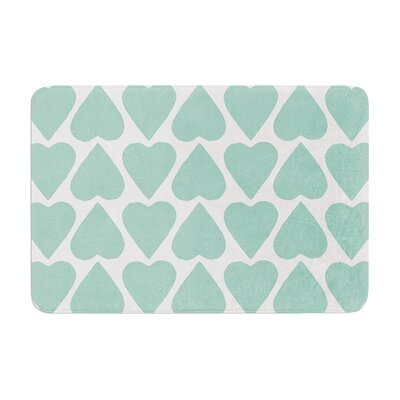 Up and Down Hearts by Project M Bath Mat Color: Mint
