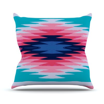 Surf Lovin Hawaii by Nika Martinez Outdoor Throw Pillow Color: Blue/Pink