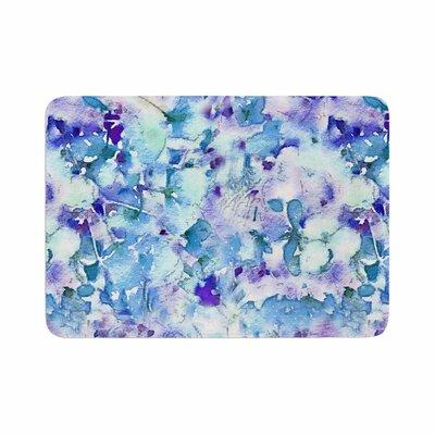 Floral Fantasy by Carolyn Greifeld Memory Foam Bath Mat Color: Blue