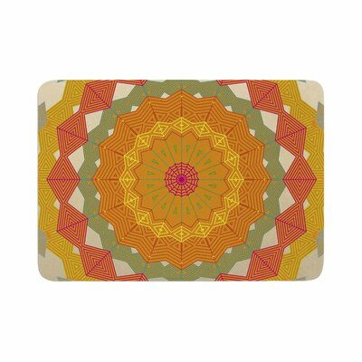 Composition by Angelo Carantola Memory Foam Bath Mat Color: Orange/Red
