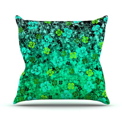 Flower Power by Ebi Emporium Outdoor Throw Pillow Color: Green