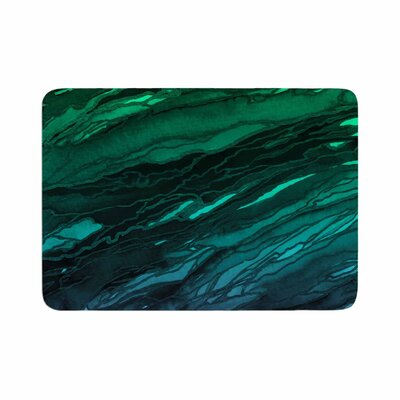 Agate Magic by Ebi Emporium Memory Foam Bath Mat Size: 36 L x 24 W, Color: Green/Plum Ombre