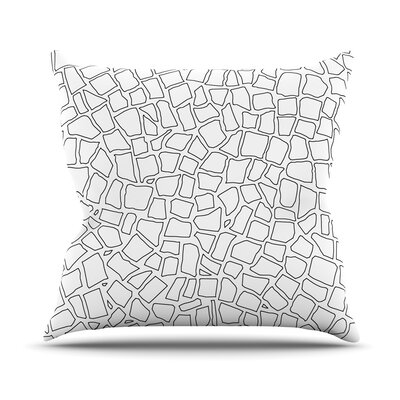 British Mosaic Outdoor Throw Pillow Color: White