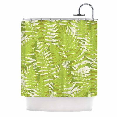 Fun Fern by Jacqueline Milton Shower Curtain Color: Green