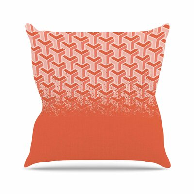 No Yard Throw Pillow Color: Coral, Size: 18 H x 18 W x 6 D