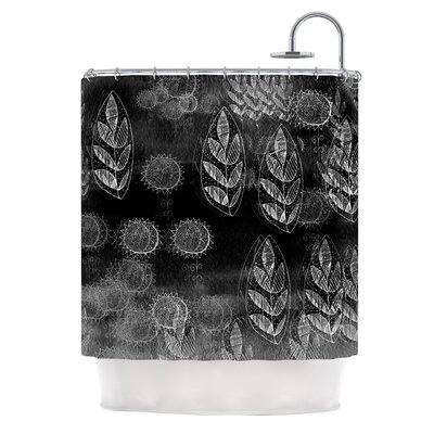 Summer Night by Marianna Tankelevich Shower Curtain Color: Black