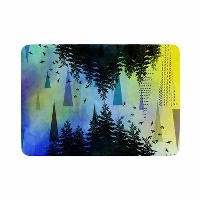 As Above, So Below by alyZen Moonshadow Bath Mat Color: Blue