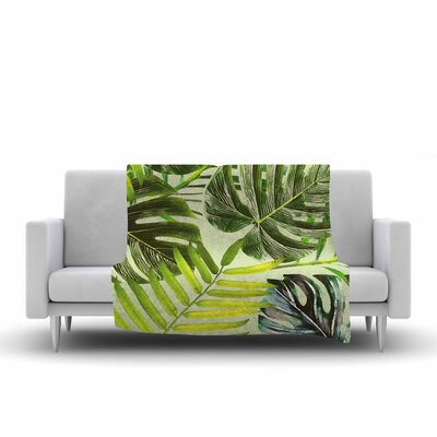 Jungle by Alison Coxon Fleece Blanket Color: Green