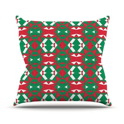 Christmas Geo by Empire Ruhl Throw Pillow Size: 26 H x 26 W x 5 D