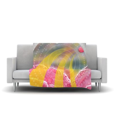Enlightening Fleece Throw Blanket Size: 40 L x 30 W