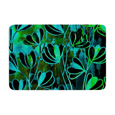 Effloresence by Ebi Emporium Bath Mat Color: Lime Green, Size: 17W x 24L