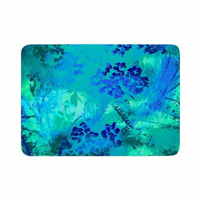 Wildflowers by Nina May Memory Foam Bath Mat Color: Blue