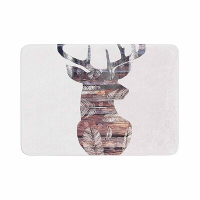 The Road by Suzanne Carter Bath Mat Color: White