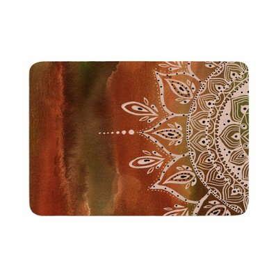 Mandala by Li Zamperini Memory Foam Bath Mat Color: Autumn