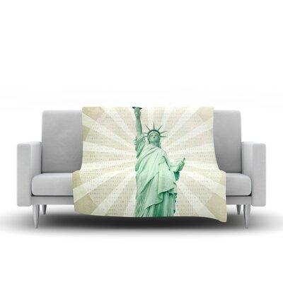 The Lady by Catherine McDonald Fleece Blanket Size: 80 L x 60 W