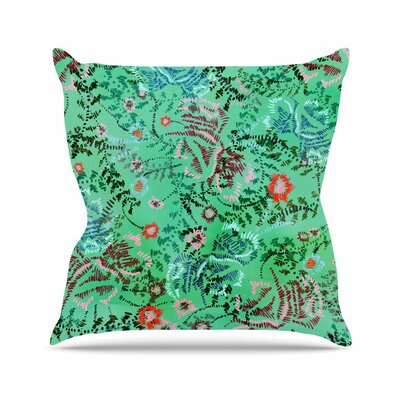 African Romance Throw Pillow Size: 16 H x 16 W x 6 D, Color: Green