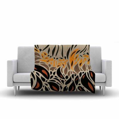 Africa - Abstract Pattern II by Viviana Gonzalez Fleece Blanket Color: Orange