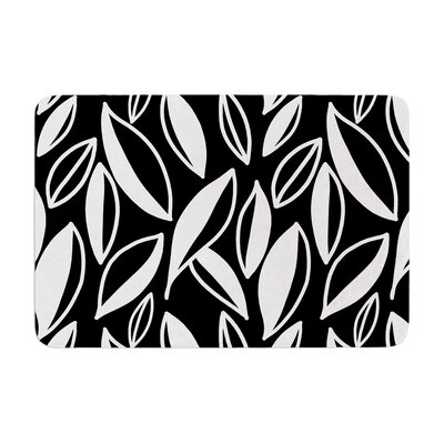 Leaving by Emine Ortega Bath Mat Color: Black/White, Size: 24 W x 36 L