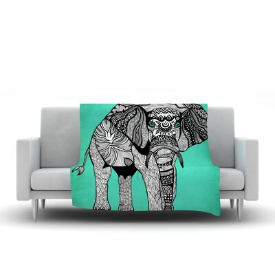 Elephant of Namibia Throw Blanket Size: 40 L x 30 W, Color: Grey