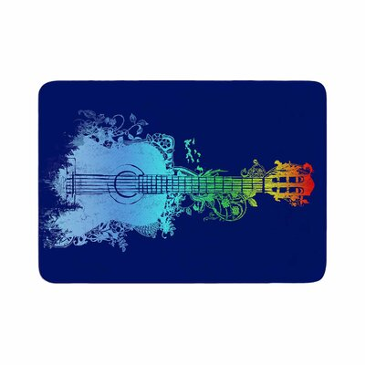 Nature Tune by Frederic Levy-Hadida Memory Foam Bath Mat Color: Blue/Green