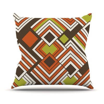Outdoor Throw Pillow Color: Coffee