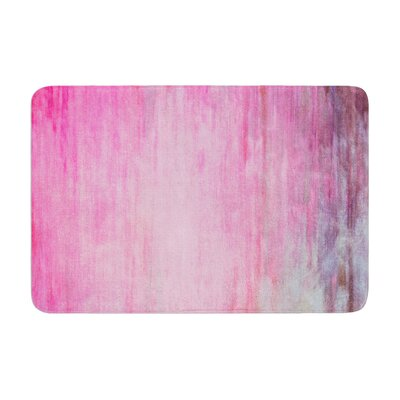 Color Wash by Iris Lehnhardt Bath Mat Color: Pink, Size: 17W x 24L