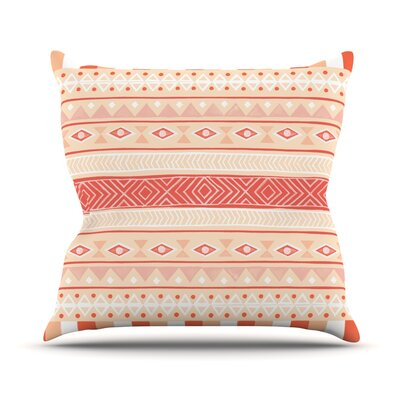 Mojave by Skye Zambrana Outdoor Throw Pillow Color: Orange/Red